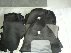 BLACK CAR SEAT COVERS LARGE GOOD CONDITION. Capalaba Brisbane South East Preview