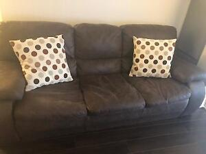 Brown sofa with pillow