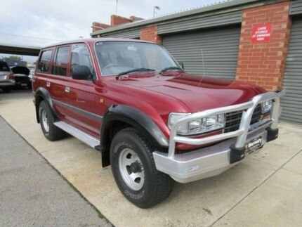 1995 Toyota Landcruiser GXL (4x4) Burgundy 4 Speed Automatic 4x4 Wagon