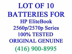 LOT OF 10 x GENUINE HP Battery for EliteBook 2560p 2570p Series SX03 SX06 632423-001 Laptop Batteries Original