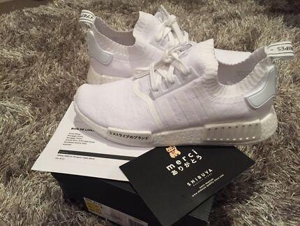Adidas NMD Japan Triple White Primeknit US10.5 (Fits US11) New