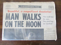 Original Man Walks On The Moon and Other Old Newspapers