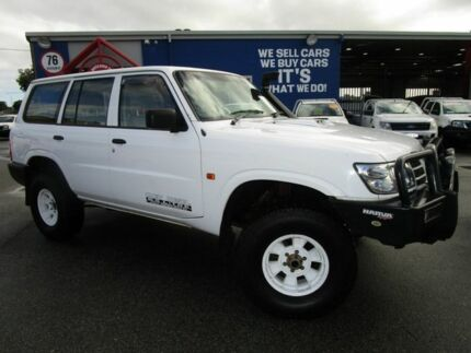 2003 Nissan Patrol GU III MY2003 DX White 5 Speed Manual Wagon Welshpool Canning Area Preview