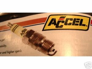 ACCEL SHORTY HEADER SPARK PLUGS #576S SET OF 8 SBC CHEVY 350 FORD 302
