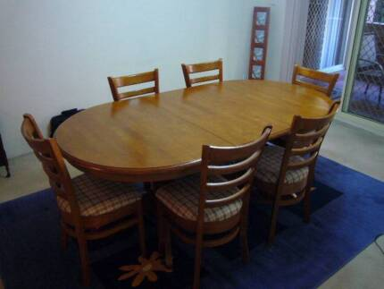 Timber 7pce Dining Setting