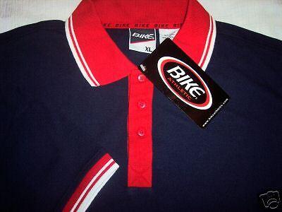 Bike Golf Shirt (Men's Navy Blue Polo Golf Shirt by BIKE ATHLETIC XL)