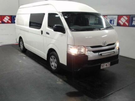 2015 Toyota Hiace TRH221R MY15 SLWB White 6 Speed Automatic Van