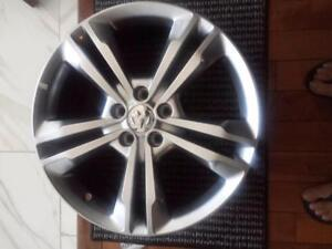 BRAND NEW NEVER MOUNTED FACTORY 19 INCH DODGE CHARGER ALLOY RIM SET OF FOUR.