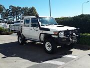 2014 Toyota Landcruiser VDJ79R Workmate Double Cab White 5 Speed Manual Cab Chassis Acacia Ridge Brisbane South West Preview