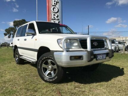 2001 Toyota Landcruiser FZJ105R RV White 5 Speed Manual Wagon