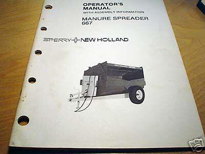 New Holland 667 Manure Spreader Operators Manual Nh
