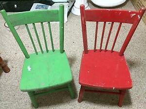 ANTIQUE CHILDREN'S CHAIRS 2 for $50 London Ontario image 2