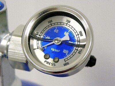 NOS NITROUS BOTTLE PRESSURE GAUGE KIT 4AN LINE BLUE (Nos Pressure Gauge)