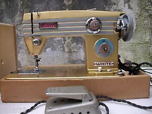 1960s white sewing machine model number 765