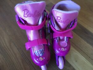 Barbie rollerblades with arm/leg pads size 12-2 Woodvale Joondalup Area Preview