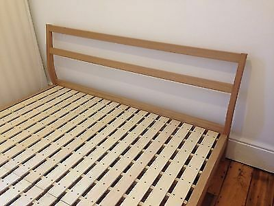 mint condition muji bentwood ash double bedframe for sale