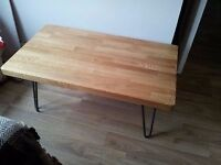 hairpin leg coffee table retro industrial shabby chic