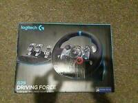 Logitech g29 racing wheel with gear stick (ps3, ps4, pc)