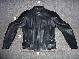 mens biker fully padded leather jacket