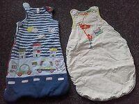 Bundle 2× baby sleeping bags 2.5 tog 0-6 mths mamas&papas and 6-12 mths Tu