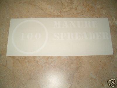 Ih Mc Cormick 100 Manure Spreader Decal Set
