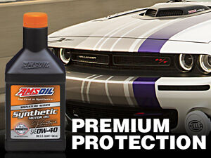 AMSOIL 0W-40 Full Synthetic for 6.2 & 6.4 Dodge Hemi, Nissan GTR