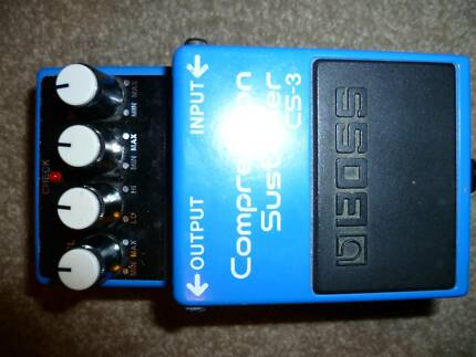 BOSS CS3 COMPRESSION SUSTAINER GUITAR PEDAL STOMPBOX