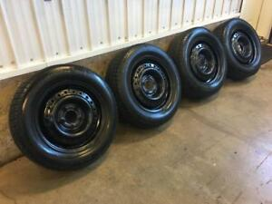 Set of 195/65R15 winter tires  and 5 bolt wheels