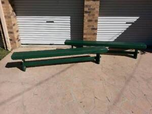 Pair of Vintage Old School Benches at 243 cm long Dayboro Pine Rivers Area Preview