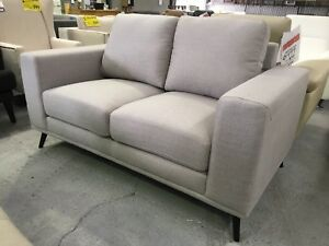 Light Grey Fabric Modern 2 Seat Sofa - FACTORY SECOND Epping Whittlesea Area Preview