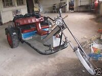 VW TRIKE Q reg with full length springer forks quad cannon exhausts spares repairs project Needs TLC
