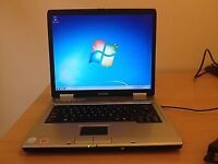 TOSHIBA SATELLITE LAPTOP-WINDOWS 7 -60 GIG HARD-MS OFFICE 2013-GOOD CONDITION-DVD-WIFI-FREE DELIVERY