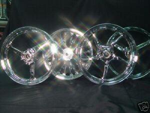 Chrome Motorcycle Wheel GSXR CBR R1 ZX R6 Hayabusa