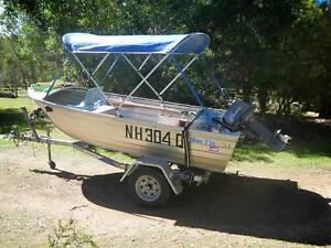 Blue Fin 3.8m 2002 aluminium boat with 18hp Tohatsu motor Tinaroo Tablelands Preview