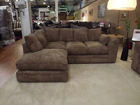 """1 YEAR WARRANTY: BRAND NEW DYLAN CORNER UNIT IN JUMBO CORD FABRIC """"EXPRESS DELIVERY"""""""
