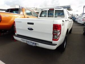 2015 Ford Ranger PX MkII XL Double Cab White 6 Speed Manual Cab Chassis Strathmore Heights Moonee Valley Preview