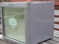 Stella Artois Husky Mini Fridge - 50L - Metalic Silver