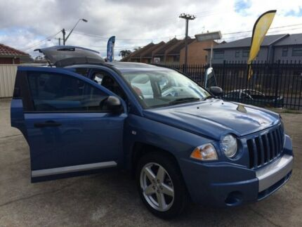 2008 Jeep Compass MK Limited Wagon 5dr CVT Auto Stick 6sp 4x4 2.4i Blue Constant Variable Wagon