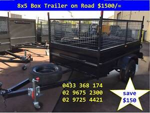 BOX TRAILER 8X5 HI SIDE & 600MM CAGE ON SALE 1Y PRIV REGO $1500 Hunters Hill Area Preview