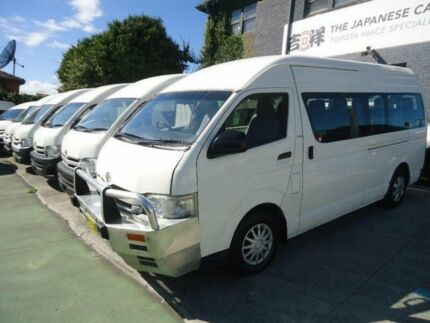 2008 Toyota Hiace KDH223R MY07 Upgrade Commuter White 4 Speed Automatic Bus