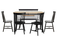Hygena Luna Extendable Dining Table and 6 chairs