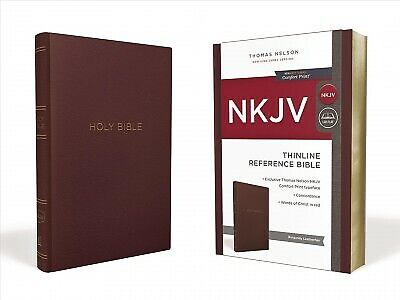Holy Bible : New King James Version, Burgundy, Leatherflex, Thinline Referenc...
