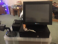 EPOs Now, cash drawer, touch screen, printer, scanner, rolls