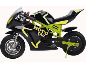 BRAND NEW 50CC PREMIUM GAS POCKET BIKE GT 2-STROKE MOTO-GP 49CC FOR KIDS! COLOURED FRAMES! 6-MONTHS WARRANTY