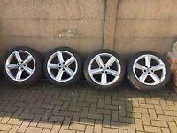 """Audi 18"""" Alloy Wheels & Tyres S Line A3 A4 A5 245 40 18"""
