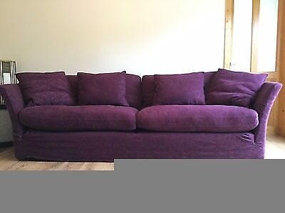 Collins & Hayes Aubergine 4 Seater. Excellent Condition