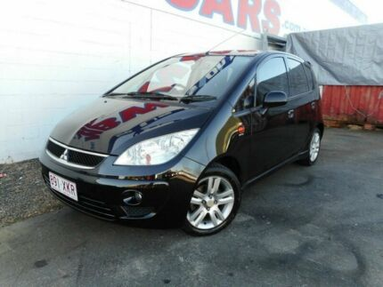 2011 Mitsubishi Colt RG MY11 VR-X Black 5 Speed Constant Variable Hatchback Yeerongpilly Brisbane South West Preview