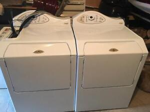 May-tag large load washer and dryer