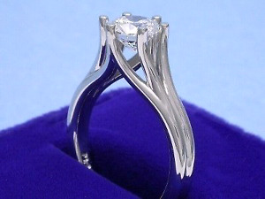 $7,000 Solitaire  .96 diamond 14k white