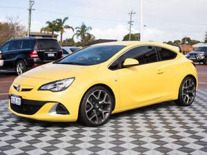2015 Holden Astra PJ MY16 VXR Yellow 6 Speed Manual Hatchback